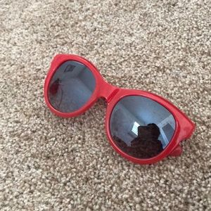 J. Crew Red hot sunglasses